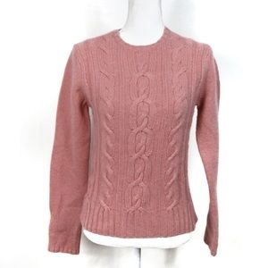 T831 GAP Cable Knit Wool Angora Cashmere Sweater